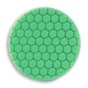 "Buff & Shine 7.5"" Center Ring Green Foam Hex-Face Buff Pad, Polishing, 640RH"
