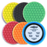"Buff & Shine 7.5"" Center Ring Foam Hex-Face Buff Pad, Med. Cut, 630RH"