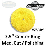 "7.5"" Center Ring Wool Pad, Medium Cut / Polishing"