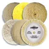 "Buff & Shine 7.5"" Standard Grip Wool Buff Pad Collection"