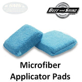 Buff & Shine Premium Blue Microfiber Applicator Pads Multi-Pack, MFA35