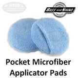 Buff & Shine Applicator Pad, Round Microfiber with Pocket (6-Pack), MFAR6