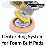 "Buff & Shine 6"" Backup Pad, Center Ring Style with Flex Edge, 658Y"