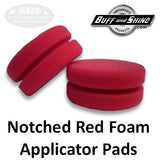 Applicator Pads, Notched Red Foam