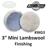 "3"" Mini Lambswool Finishing Pad, 2-Pack"