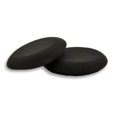 Buff & Shine Applicator Pads, Round Black Foam with Tapered Edge, FA1K