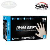 SAS DYNA GRIP 7 mil Latex Powder-Free Gloves, Large, 650-1003