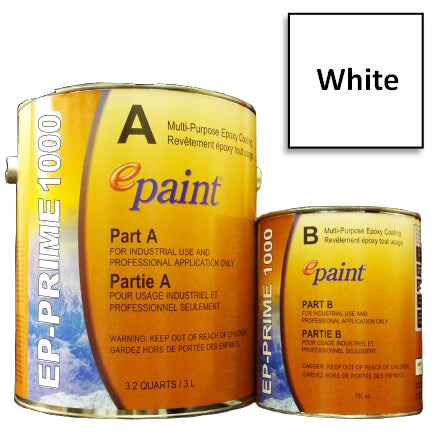 EPaint EP-PRIME 1000 Multi-Purpose Epoxy Primer, White, P1000-405-G