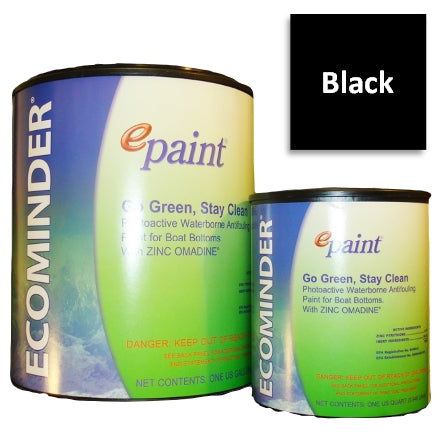 EPaint Ecominder Antifouling Boat Bottom Paint, Black