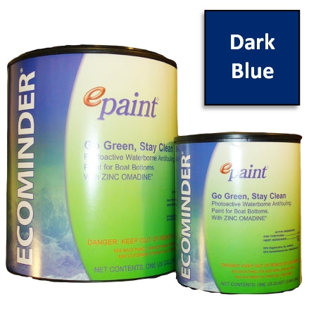 EPaint Ecominder Antifouling Boat Bottom Paint, Dark Blue