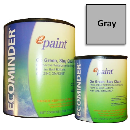 EPaint Ecominder Antifouling Boat Bottom Paint, Gray