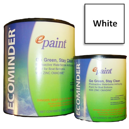 EPaint Ecominder Antifouling Boat Bottom Paint, White
