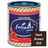 Epifanes Yacht Enamel, #12 Dark Brown, 750ml, YE012.750