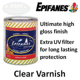 Epifanes Clear Gloss Varnish with Extra UV Filter, CV Series