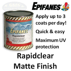 Epifanes rapidclear matte finish - Clear matt varnish for exterior wood ...