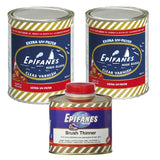 Epifanes Clear Gloss Varnish, CV.1000 2 Cans Plus Brushing Thinner