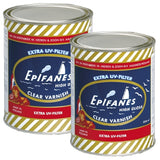 Epifanes Clear Gloss Varnish, 1000ml, 2 Cans