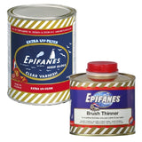 Epifanes Clear Gloss Varnish, CV.1000 Plus Brushing Thinner