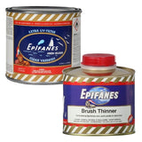 Epifanes Clear Gloss Varnish, CV.500 Plus Brushing Thinner
