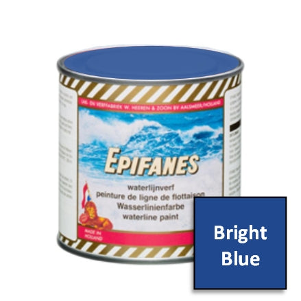Epifanes Waterline Boat Striping Paint Can, Bright Blue, Version 2