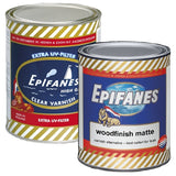 Epifanes Woodfinish Matte and UV Clear Varnish