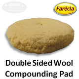 "Farecla G Mop 8"" Double Sided Twisted Wool Compounding Pad, 10045"