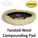 "Farecla G Mop 8"" Twisted Wool Compounding Grip Pad, 10045/GMW801"