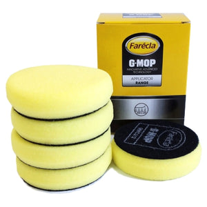 "Farecla G Mop 3"" Foam Yellow Compounding Grip Pad, 5-Pack, GMC312"