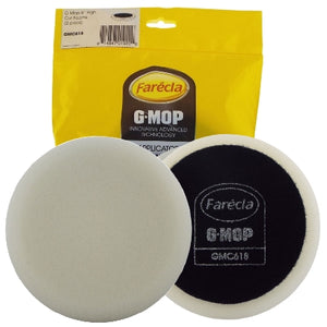 "Farecla G Mop 6"" Foam White Fast Cut Dry Use Compounding Grip Pad, 2-Pack, GMC618"