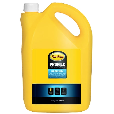 Farecla Profile Premium Liquid Compound, 1 Gallon, PRL106