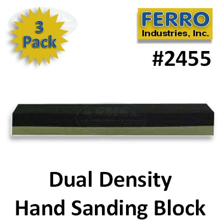Dual Density Hand Sanding Block, 3-Pack