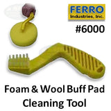 Ferro Foam Buff Pad Cleaning Tool, 6000