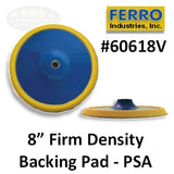 "Ferro 8"" Firm PSA Backing Pad, 60618V"