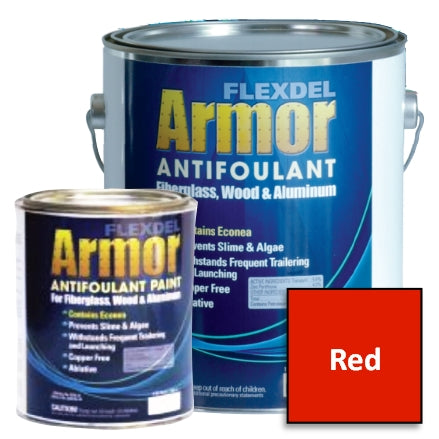 Flexdel Armor Antifouling Paint, Red