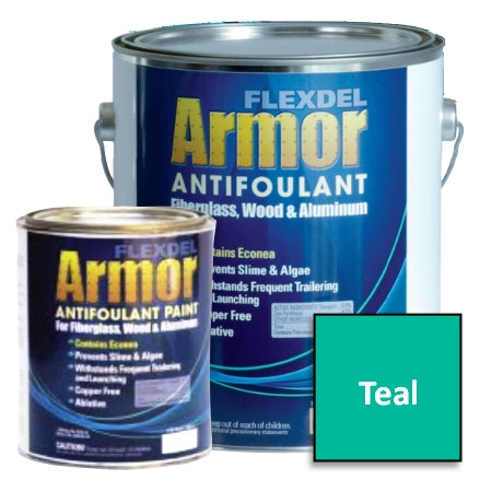 Flexdel Armor Antifouling Paint, Teal