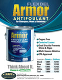 Flexdel Armor Advanced Copper-free Solvent-based Antifouling Boat Bottom Paint Flyer