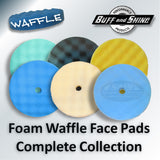"Buff and Shine 8"" Foam Convoluted Waffle Buff Pad, Green, Polishing, 840WG"