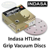 "Indasa HT Line Rhynogrip 6"" 15-Hole Sanding Discs"
