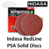 Indasa RedLine Rhynostick Solid PSA Sanding Discs Collection
