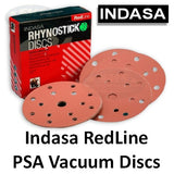 Indasa RedLine Rhynostick Vacuum Sanding Disc Collection