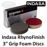"Indasa RynoFinish 3"" Microfine Foam Finishing Discs, 320-3000"