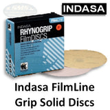 Indasa FilmLine Rhynogrip Solid Sanding Disc Collection