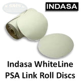 Indasa WhiteLine Rhynostick Link Roll Solid PSA Sanding Disc Collection