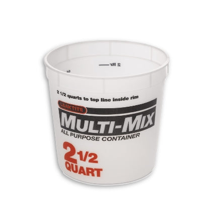Leaktite 2.5 Quart Multi-Mix Container