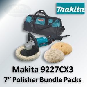"Makita 9227 7"" Polisher Bundle and Add-On Savings Packs"