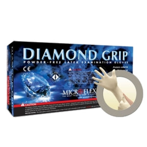 Microflex DIAMOND GRIP 6 mil Latex Powder-Free Gloves