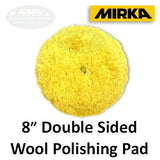 "Mirka 8"" Yellow Wool Double Sided Polishing Pad, MPADDSY-8-1.25"