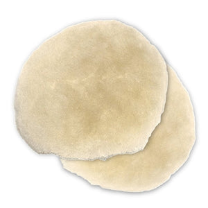 "Mirka 6"" Lambs Wool Polishing Buff Pad, 2-Pack, MPADLW6"