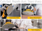 "Mirka Iridium 5"" Grip Sanding Discs in action picture, 2"