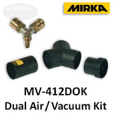 Mirka Dual Operator Air Inlet and Vacuum Fitting Kit, MV-412DOK